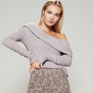Free People Snowbunny Long Sleeve Knit Sweater